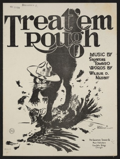 Rico Tomaso, cover of Treat 'em Rough, Chicago: Salvatore Tomaso Company,1918 (Library of Congress, Washington, DC)